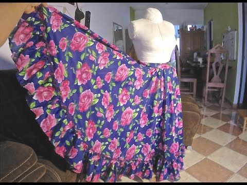 Ropa Hindú ~ Lehenga doble circular ~ Tutorial - YouTube  59940e695458