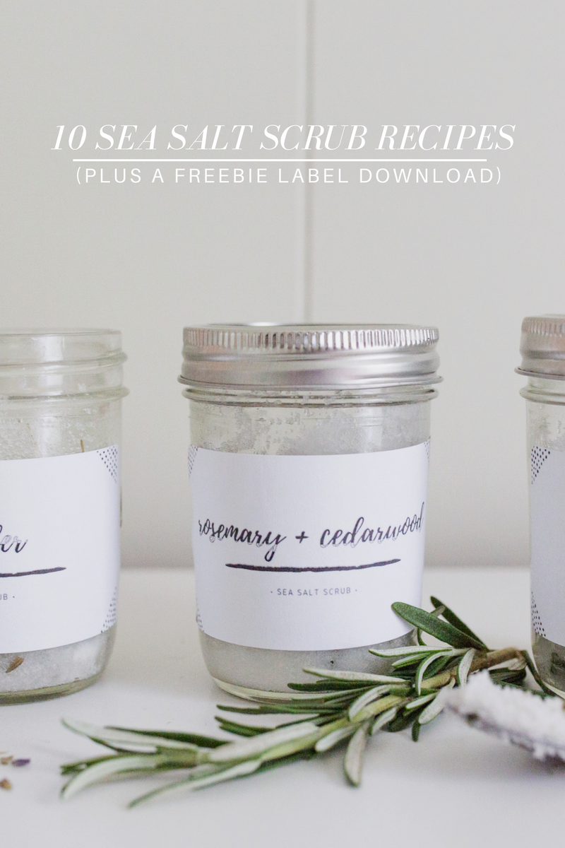 Sea Salt Scrub Recipes || DIY || Free Printable || Essential Oils || Young Living || Coconut Oil || Body Scrub || Curated Minimalism || Photography Tips