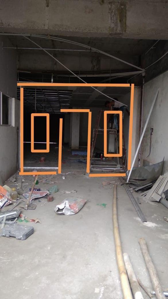 Wall design store window and door construction building work pinterest also rh