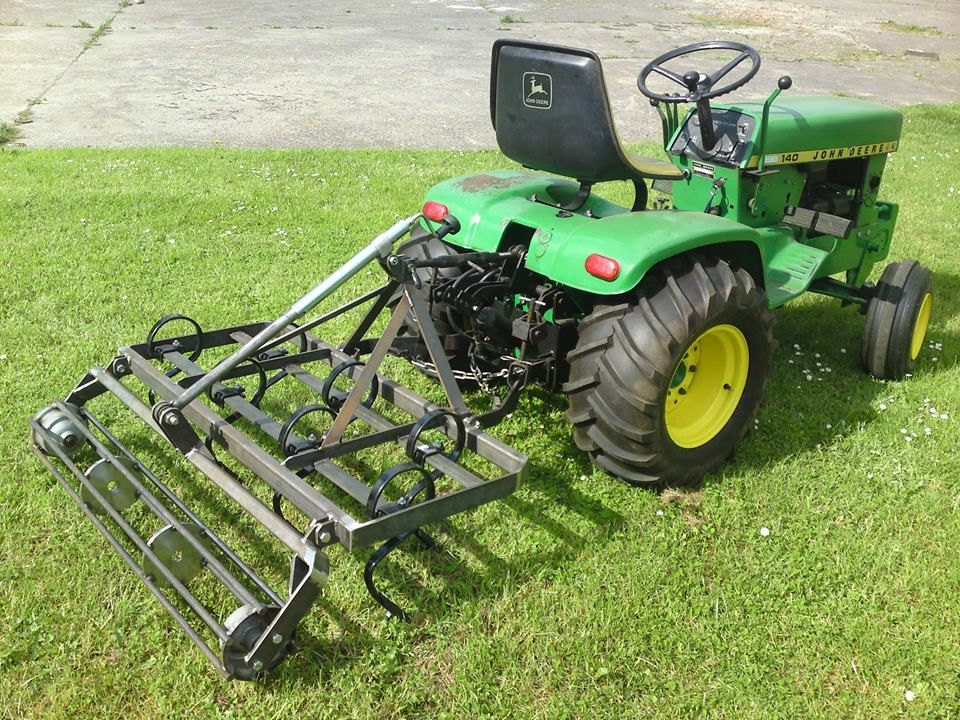 John Deere 140 with chisel plow. Homemade? | Projects to Try ...