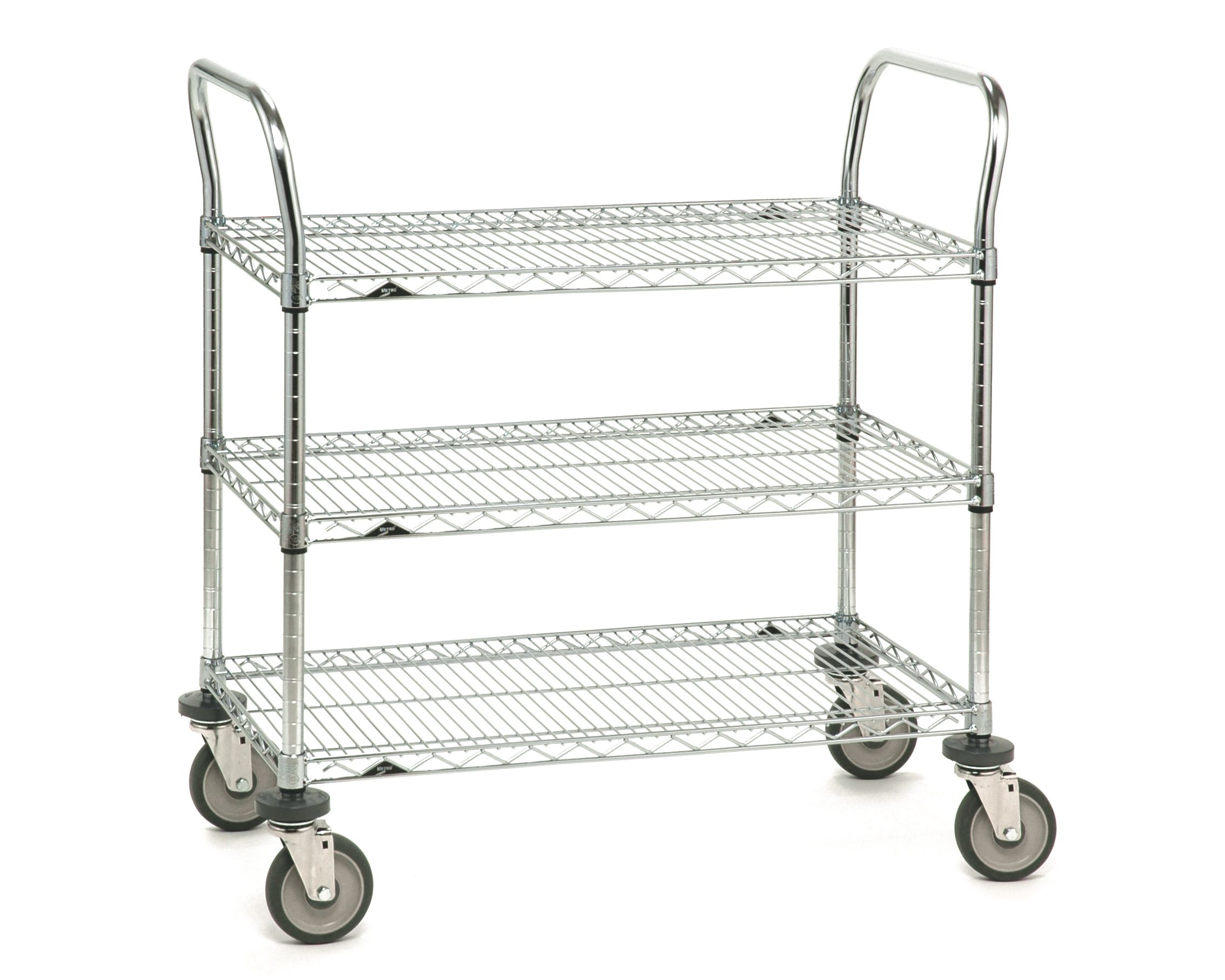 SP series with super erecta shelve Wire Cart with 3 wire shelve ...
