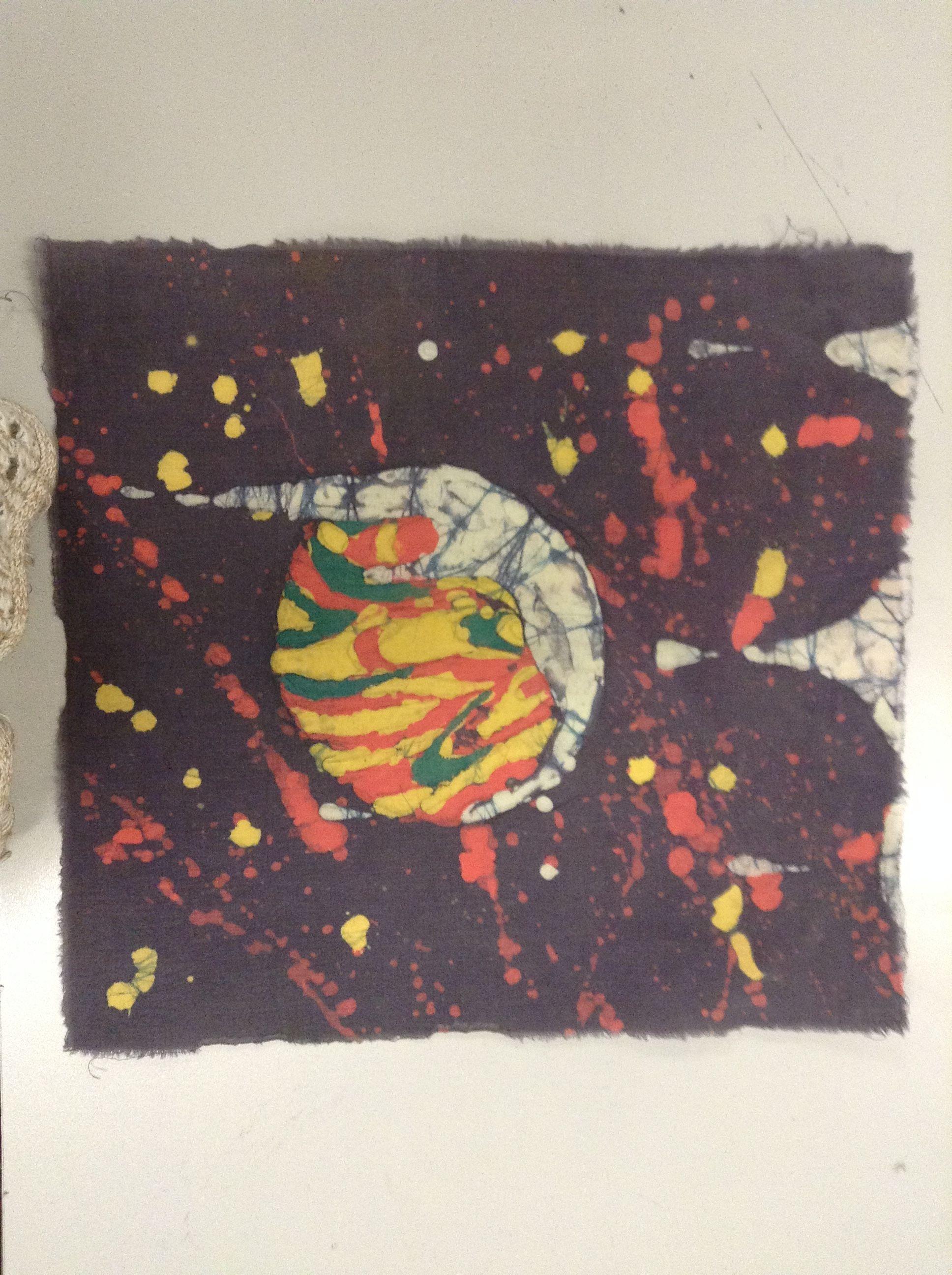 Random abstract batik I did in my art class