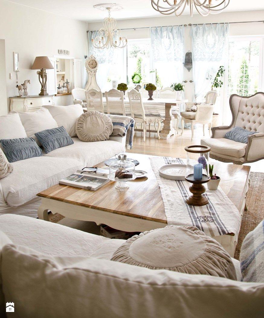 Salon Styl Prowansalski Bellemaison Salon Living Room
