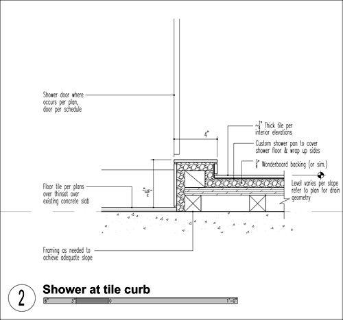 Shower Curb, Bath Design, Bathroom