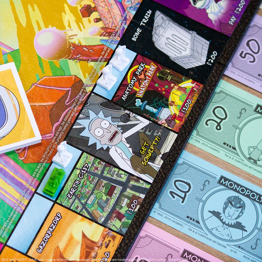 Monopoly Rick and Morty Board Game Photography in 2020