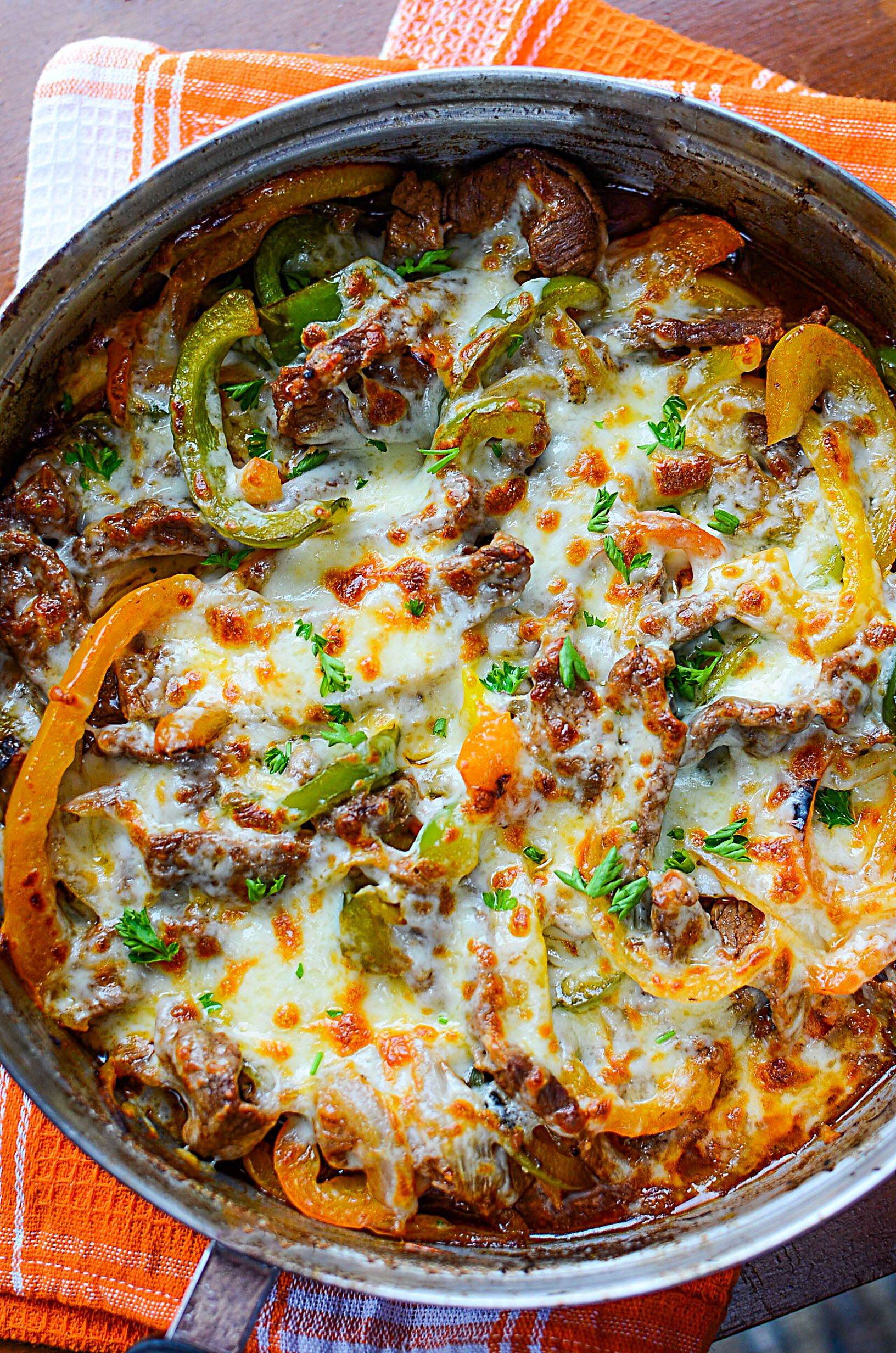 Low Carb Philly Cheesesteak Skillet Recipe With Images Beef