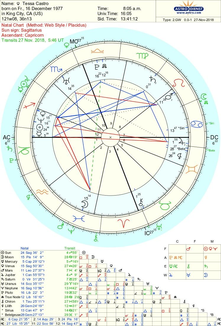 Pin by Tessa L Castro (Wilchenski)🎭 on ASTROLOGIC IV: Birth Chart