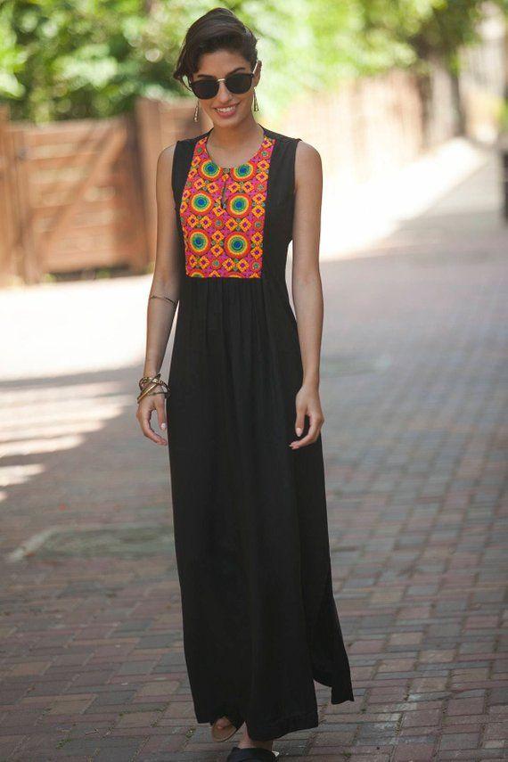 Women s Black Bohemian Kaftan 682cb38ee