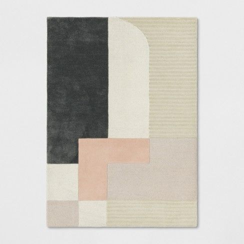 Color Block Tufted Rug Project 62 Image 1 Of 3 Geometric Pattern Rug Pink Projects Tufted Rug