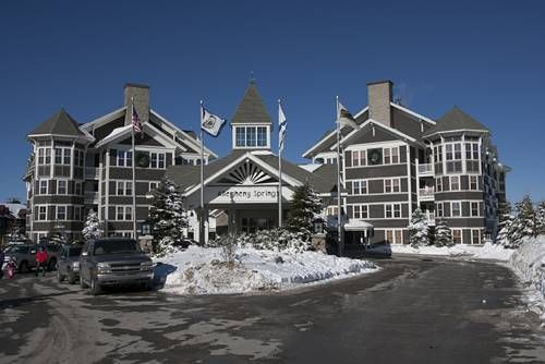 Allegheny Springs Snowshoe West Virginia Located Slope Side This Hotel Offers Skiing At