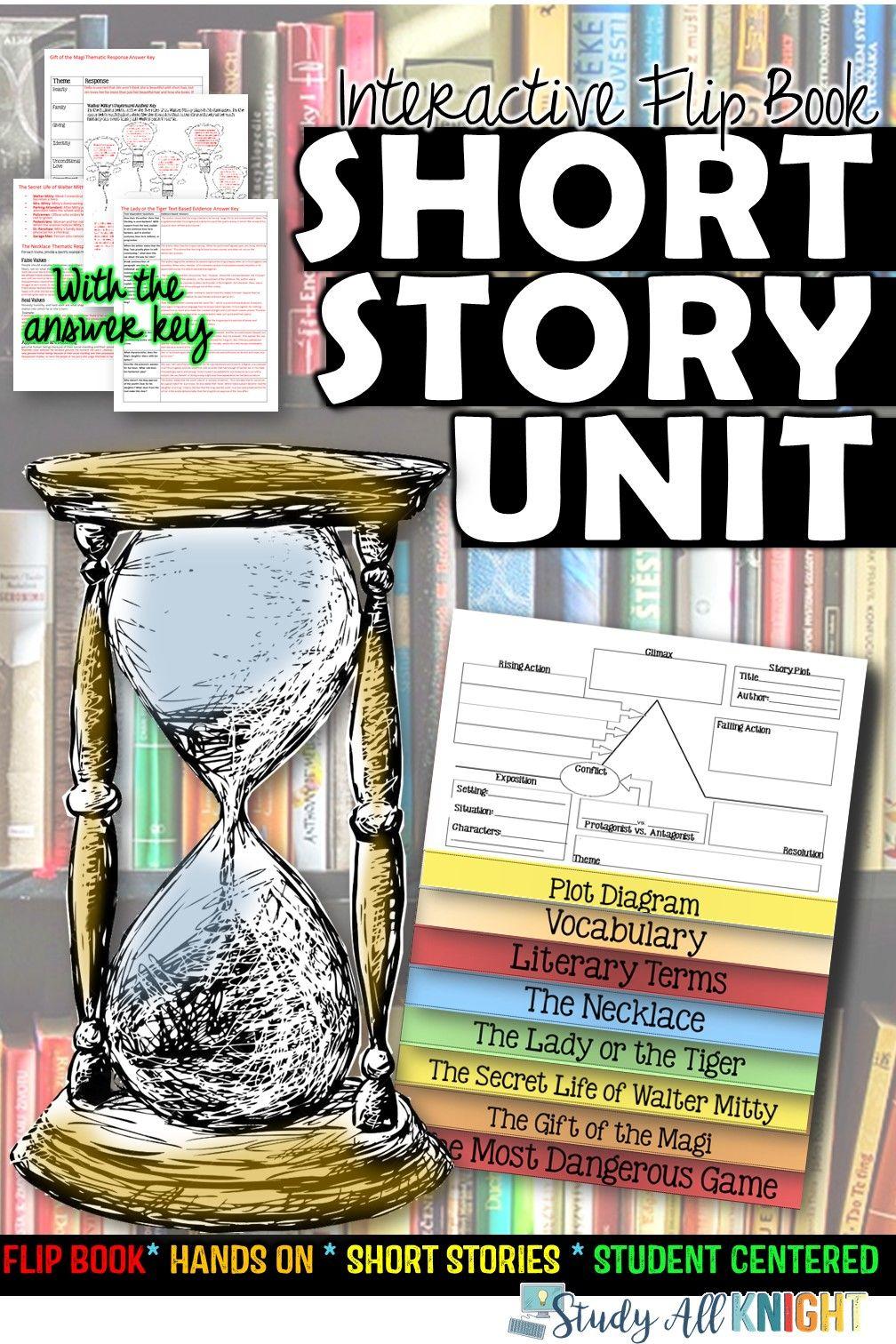 SHORT STORY UNIT LITERATURE GUIDE FLIP BOOK | Short ...