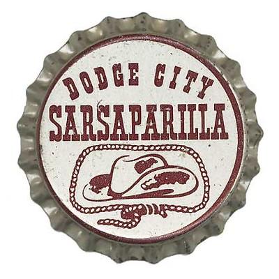 Dodge City Sarsaparilla Bottle Cap Dodge City Vintage Soda Bottles