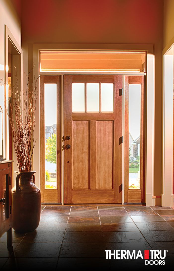 Therma tru classic craft american style fiberglass door for Therma tru front door