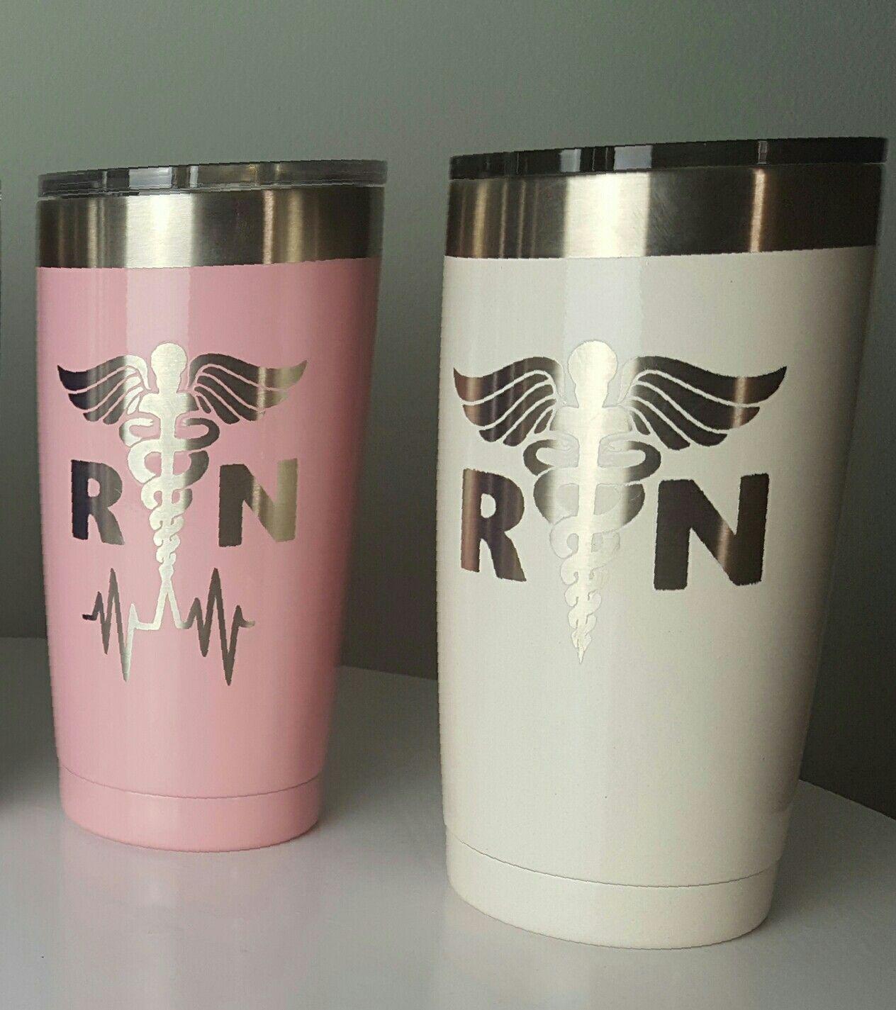 RN Custom Tumbler Nurse Yeti Cup Powder Coated Tumbler Yeti - Custom vinyl decals for tumblers