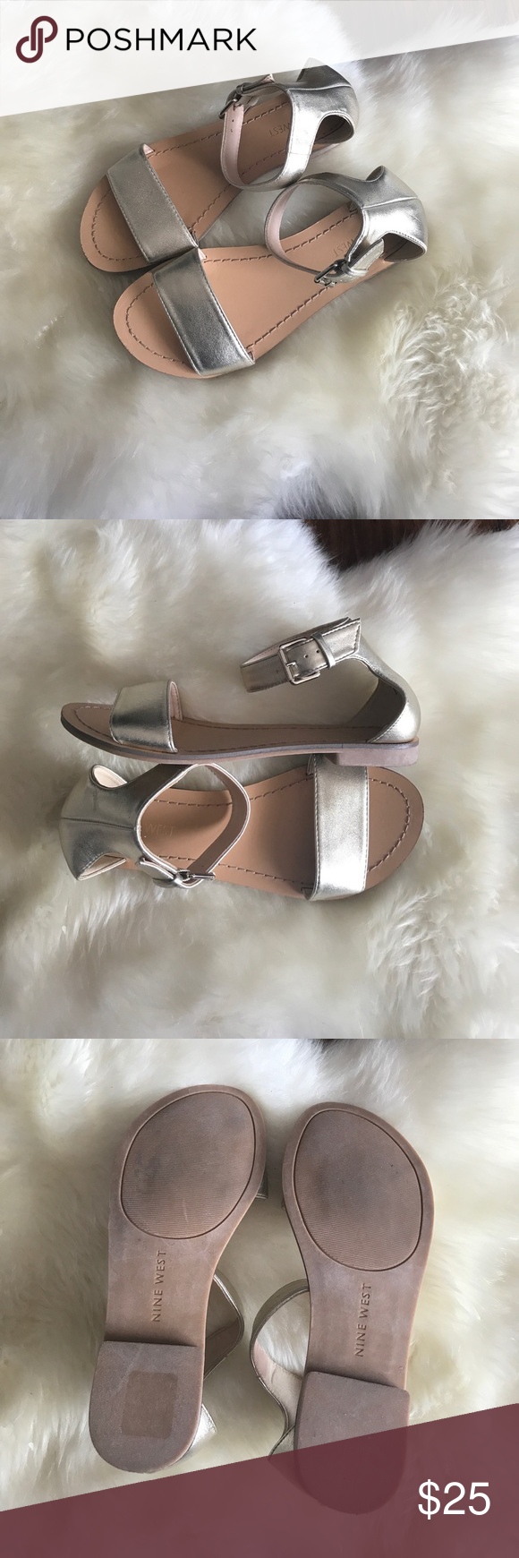 Nine West Like new. Ankle strap sandals