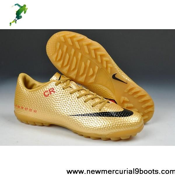 the best attitude cfb03 06ba0 Limited Edition Nike Mercurial Vapor IX CR SE TF Football Futsal in Gold  Red Black