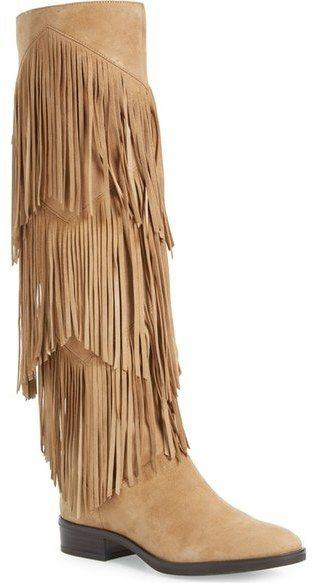 1e1ff8149 Sam Edelman  Pendra  Fringe Western Boot (Women) - Tiers of dramatic fringe