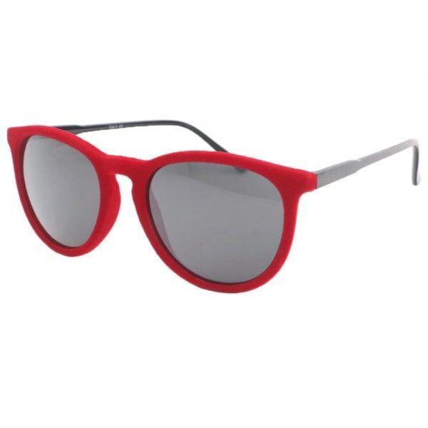 6e4e8d5c8b52f2 Lunettes de soleil velours rouge bordeaux Disco fashion monture ronde pour  homme et femme  lunettesdesoleil