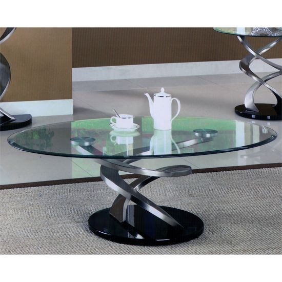 Modern Glass Coffee Table With Wheels: Spiral Glass Coffee Table #glasscoffeetable