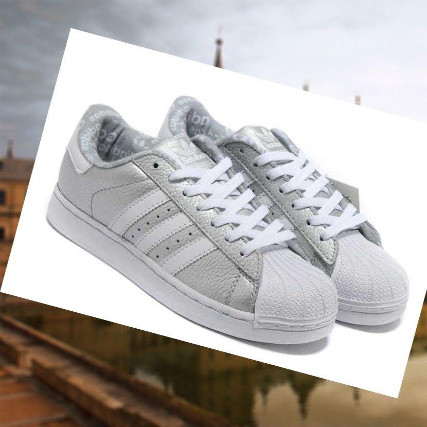 Sitio web oficial Calzado Tenis Hombre Adidas Superstar 2 De Cuero De Plata  Blanco 9W1mm Venta
