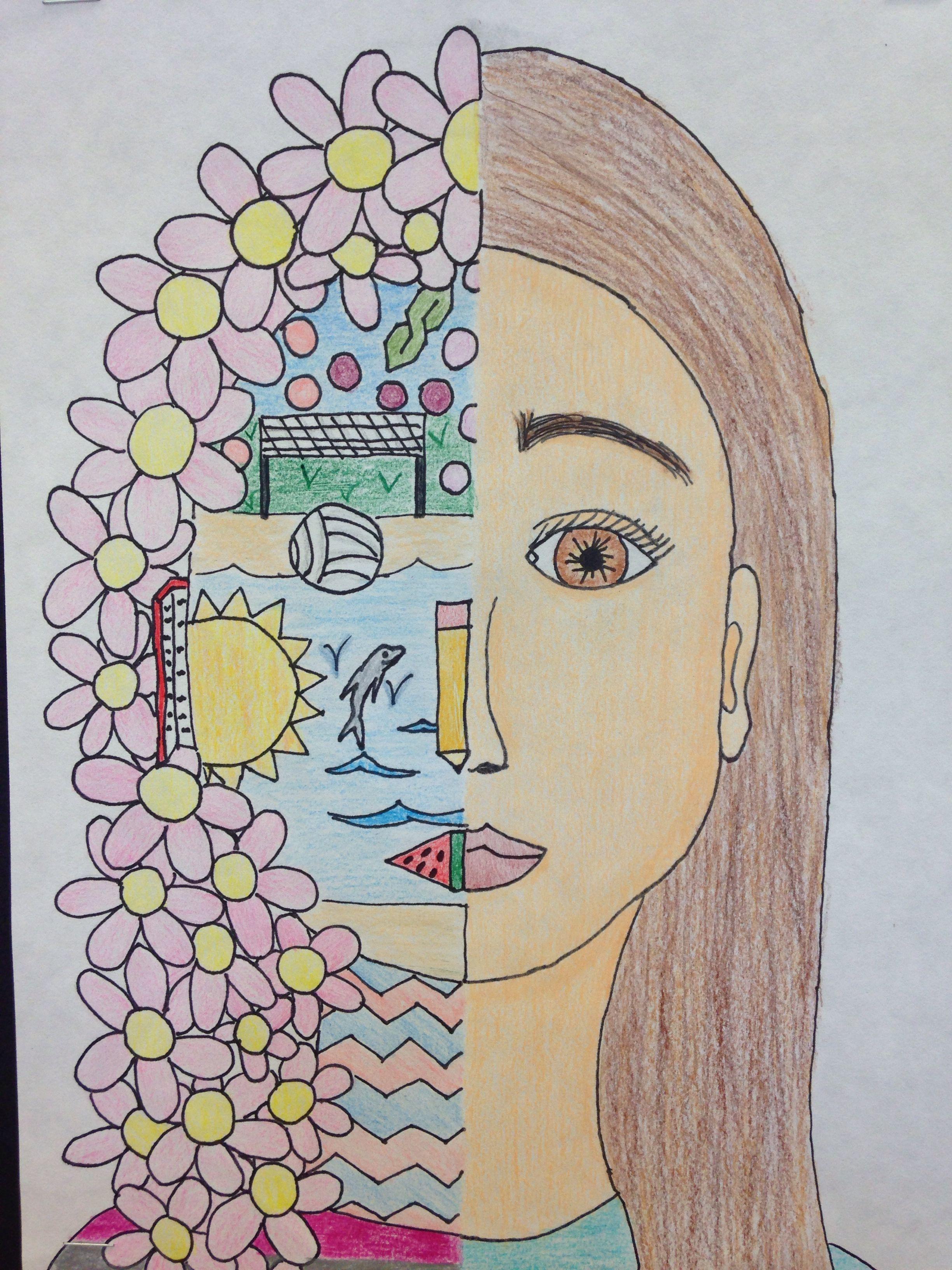 Split Face Self Portrait With Images