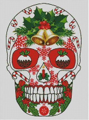 Details about Cross stitch chart, pattern. Day of the dead, Sugar, Skull, Christmas, Xmas, #42 #stitching