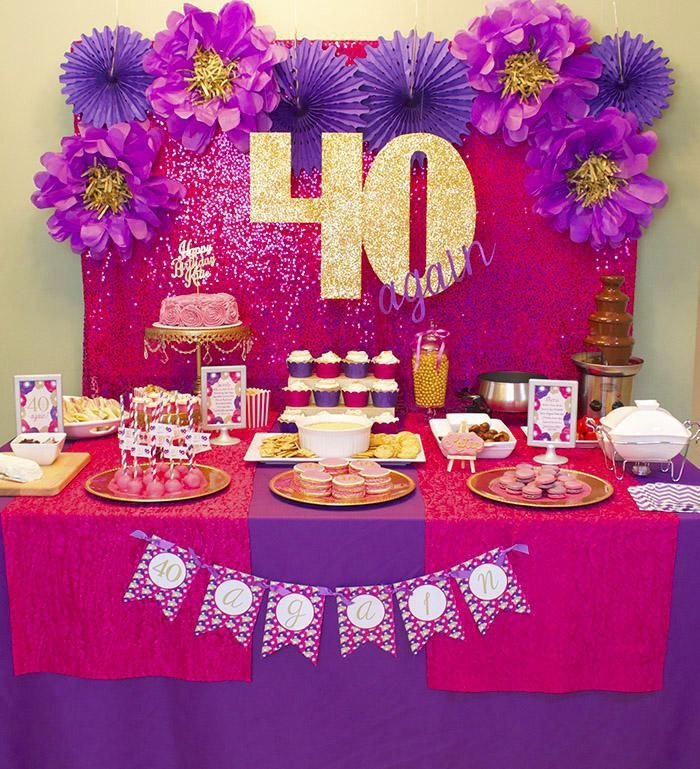 Cheap 40th birthday decorations ideas auntie sharon bday for 40th birthday party decoration