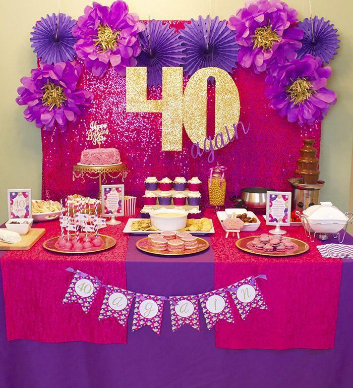 Cheap 40th Birthday Decorations Ideas 40th Birthday Parties