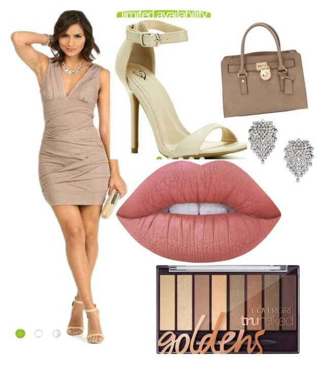 """""""Party Look #1"""" by reinaxmari ❤ liked on Polyvore featuring MICHAEL Michael Kors, Kenneth Jay Lane and Lime Crime"""