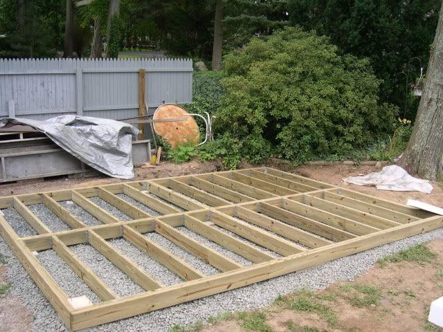 Timber frame on a bed of shingles shed pinterest log for Wooden studios for gardens