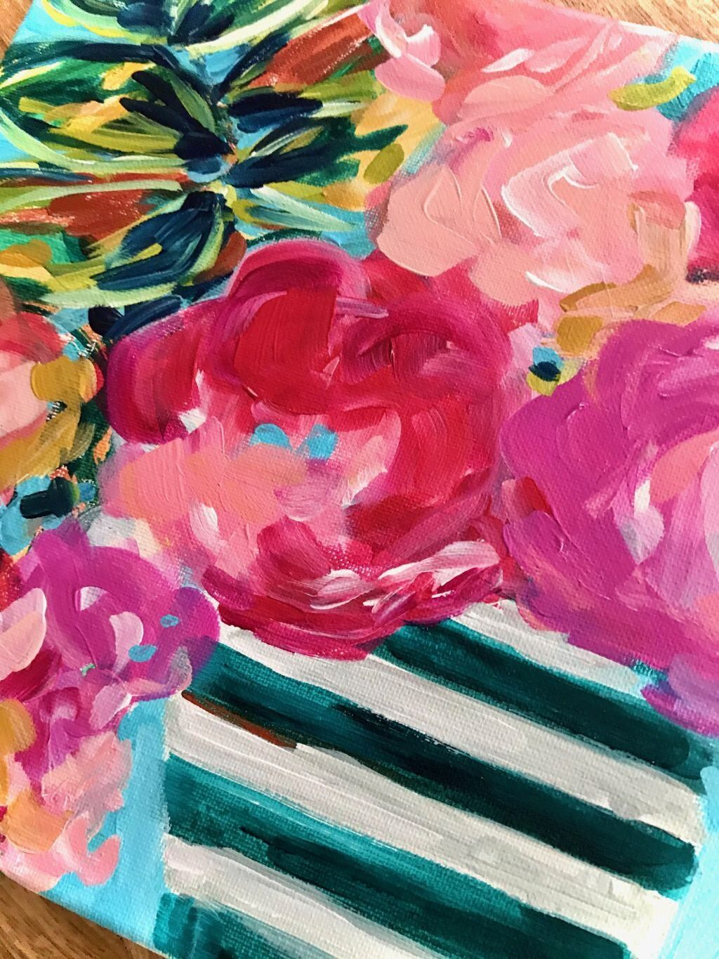 Ideas For Painting Easy Abstract Flowers On Canvas With Acrylic Paint For Beginners Step By Ste In 2020 Abstract Flower Painting Flower Painting Flower Painting Canvas