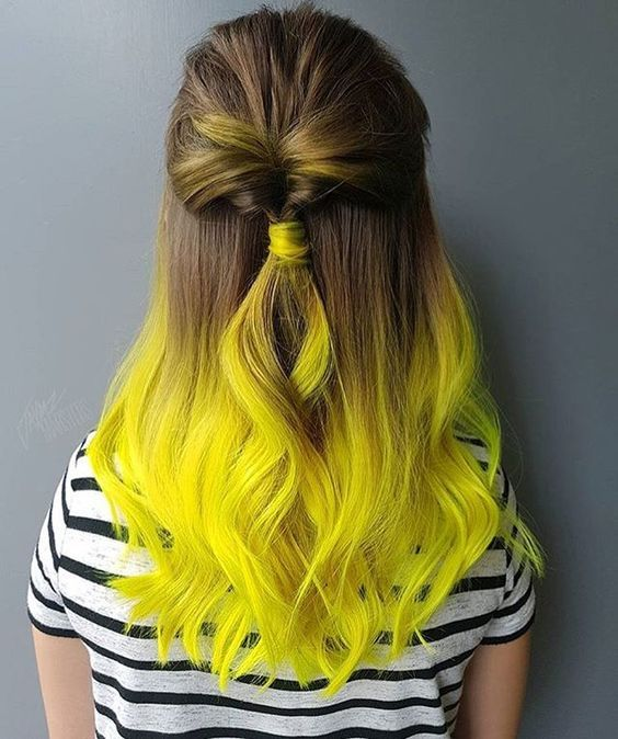 Vibrant Yellow 6 Crazy Yellow Hair Color Hairchalk Yellow Hair Color Neon Hair Color Medium Hair Color