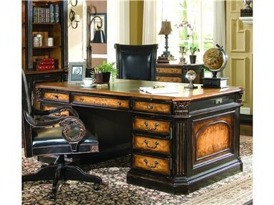 For Furniture North Hampton Executive Desk Leather Top 779 10
