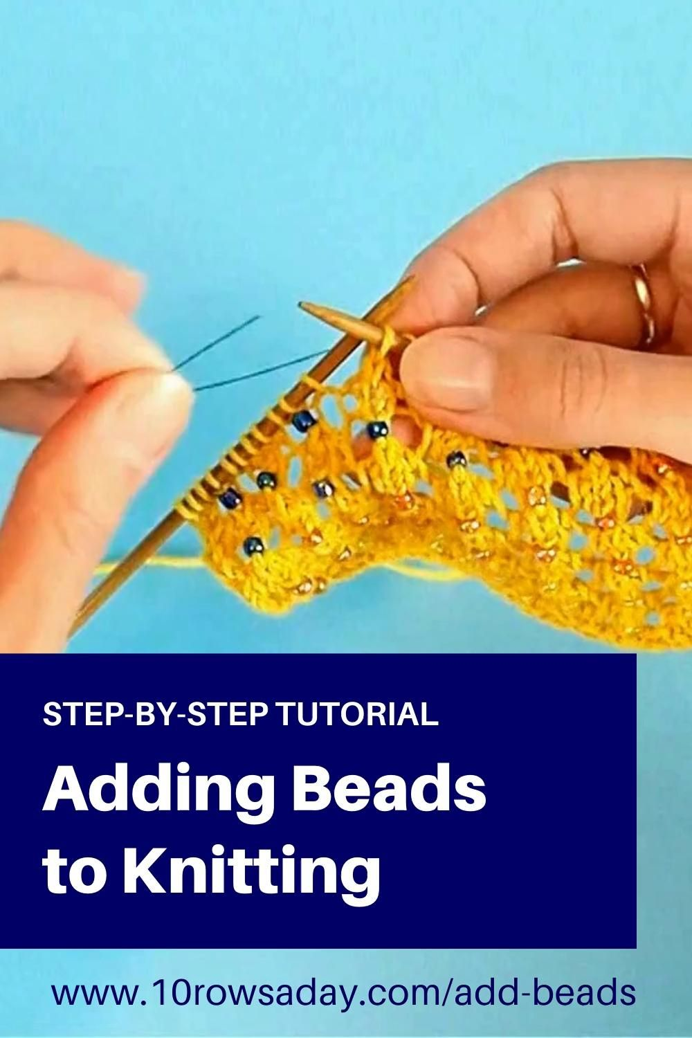 Easy Way to Add Beads to a Knitting Project
