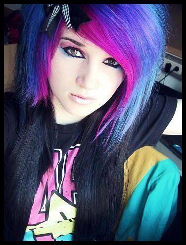 Diy Halloween Hair Diy Halloween Hairstyles Blue Hair Girl