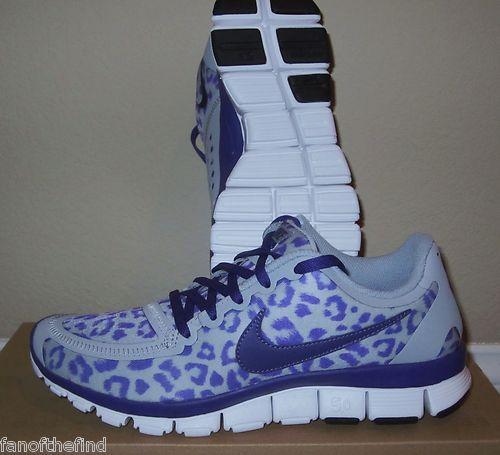 Femmes Nike Free 5.0 V4 Léopard Guépard Chaussures De Course Violet Taille  8 classique SzOZuFG