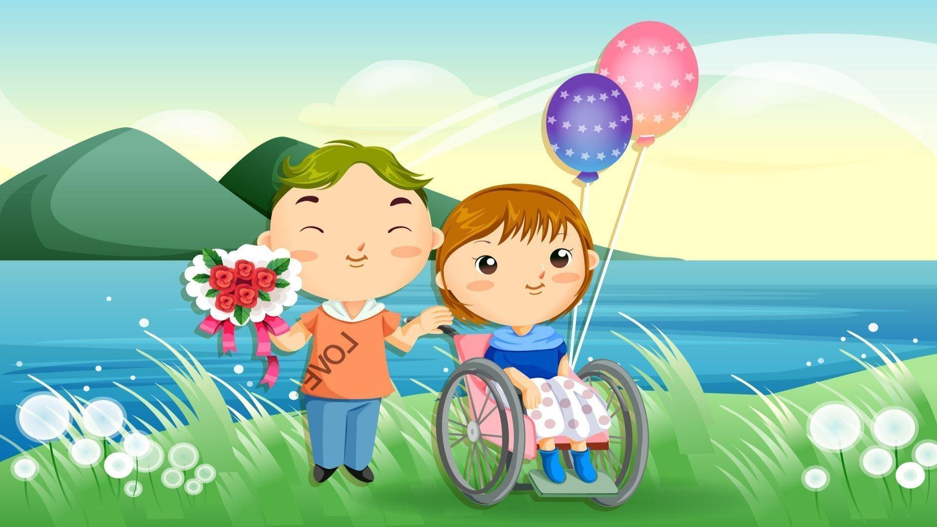 Картинки ко дню инвалида для детей