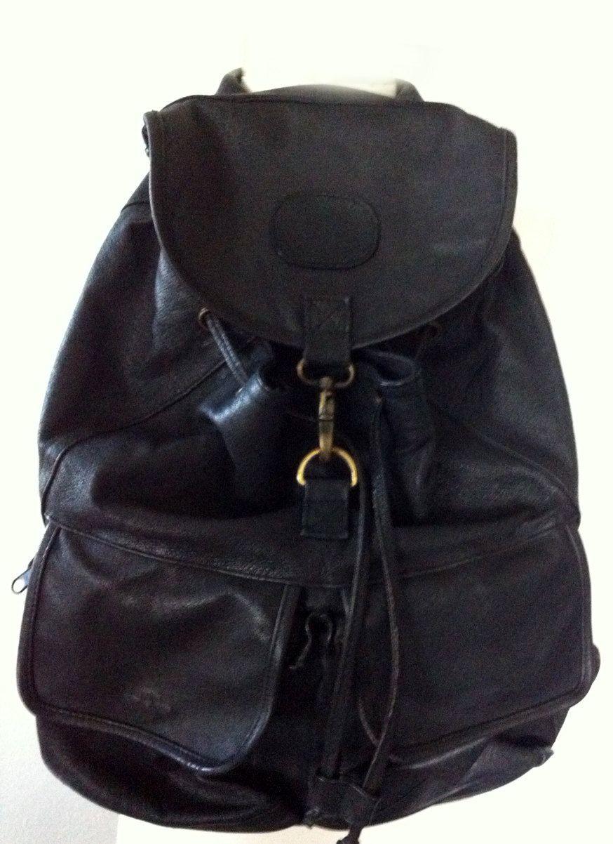 vintage leather backpack on etsy!