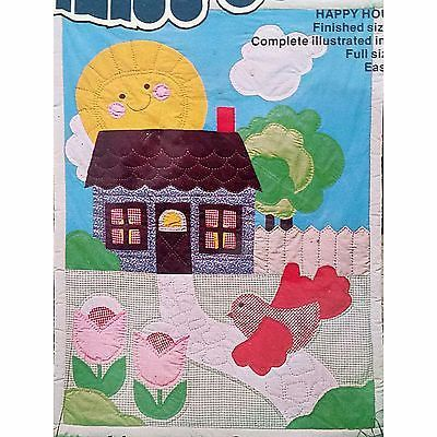 Happy House Quilt Pattern 40 x 50 inch Vintage Titan Calico County 1107 c1345