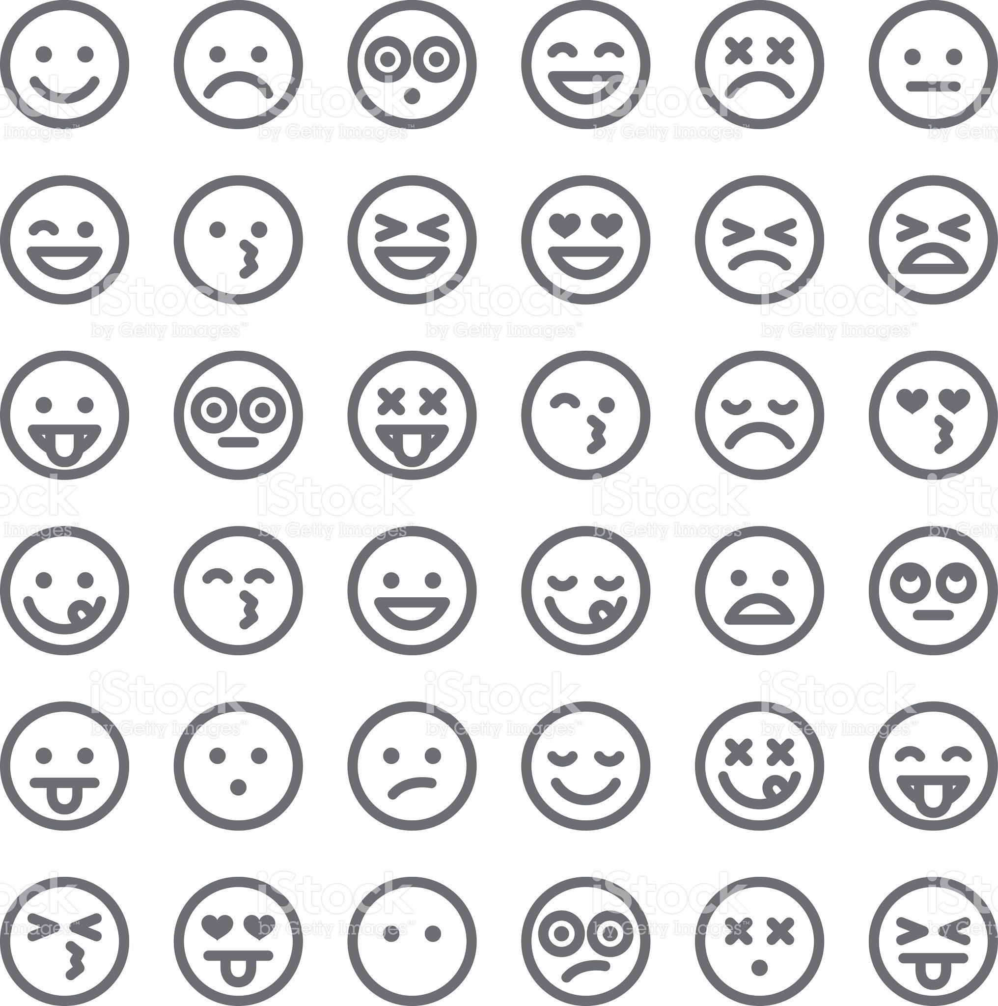 Cute Set Of Simple Emojis Royalty Free Cute Set Of Simple Emojis Stock Vector Art More Images Of Anthropomorphic Smiley Face Free Emoji Emoji Pictures Emoji