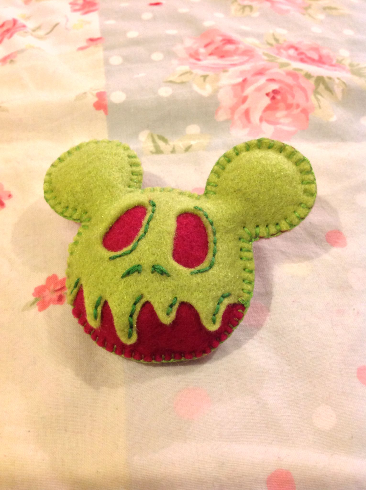 A Mickey Head in the style of the poison apple from Snow White for my friend Stephie V