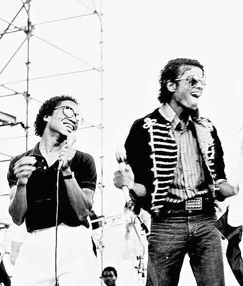 Michael & Marlon Jackson. BudweiserFest, 1982.