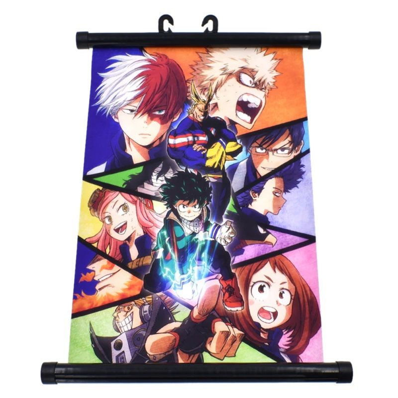 Room Scroll Wall Poster Anime My Hero Academia Poster Girls Boys Decorations
