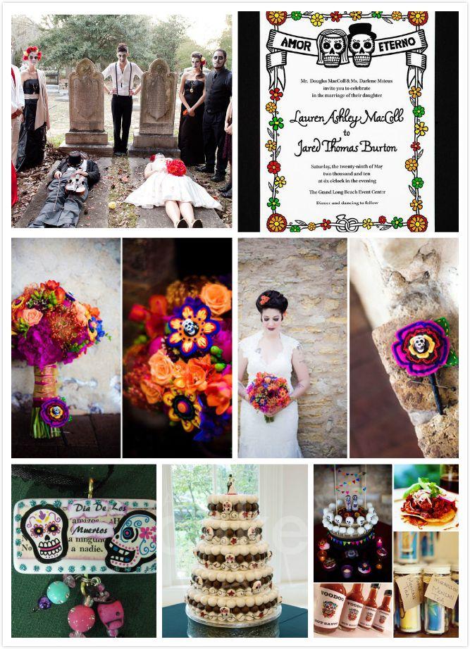 Dia de Los Muertos Mexican Wedding