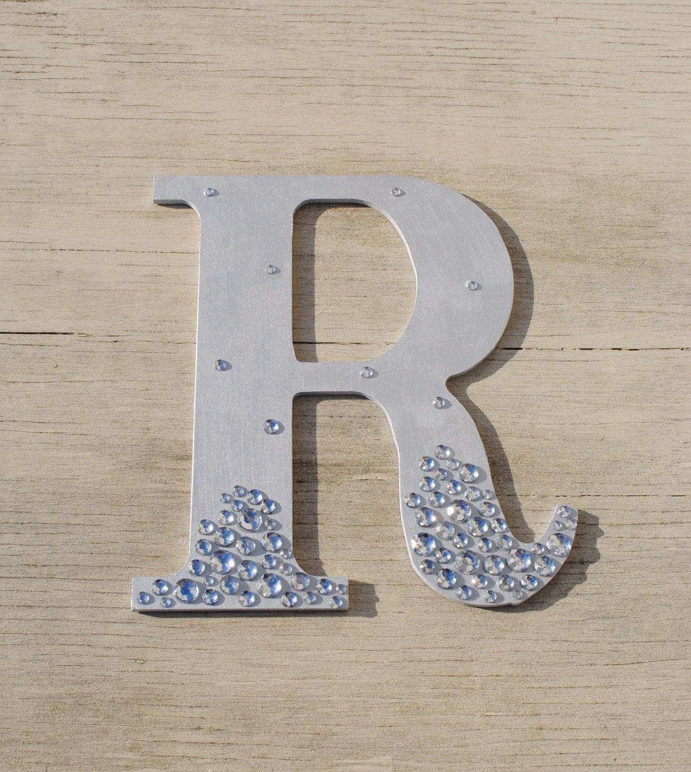 Silver Semi Bling Sparkle Wall Letters Wedding Decor ...