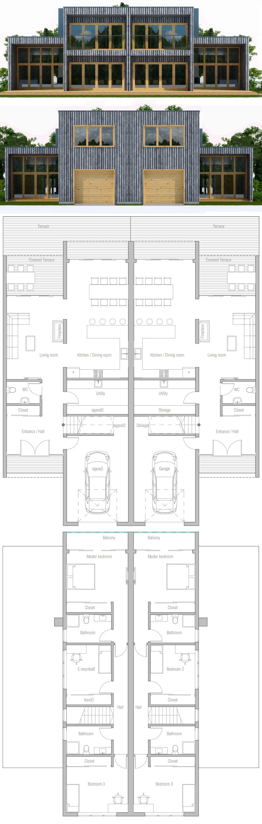 Perfekt Duplex House Plan