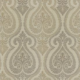 Allen Roth Gray Strippable Non Woven Paper Prepasted Wallpaper