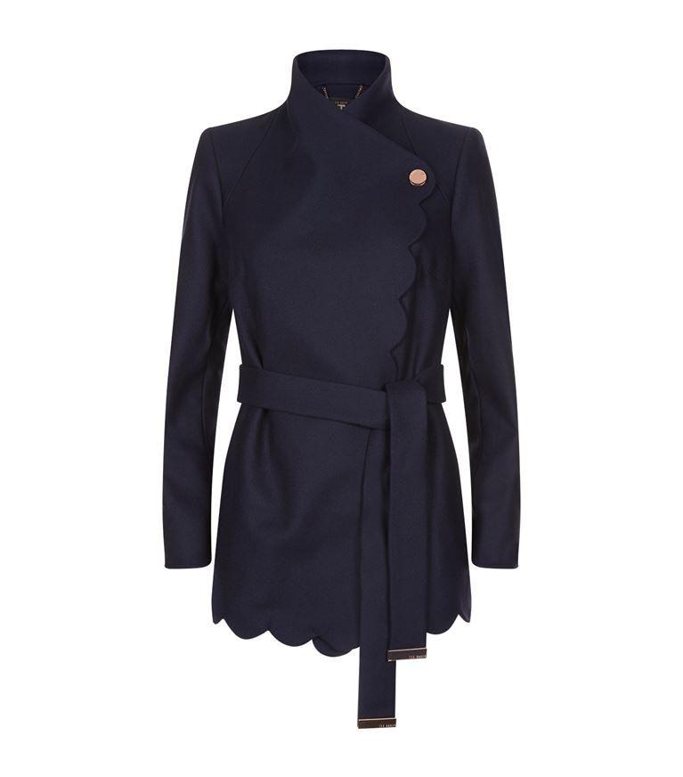 TED BAKER Aastar Scallop Detail Wool Coat. #tedbaker #cloth #