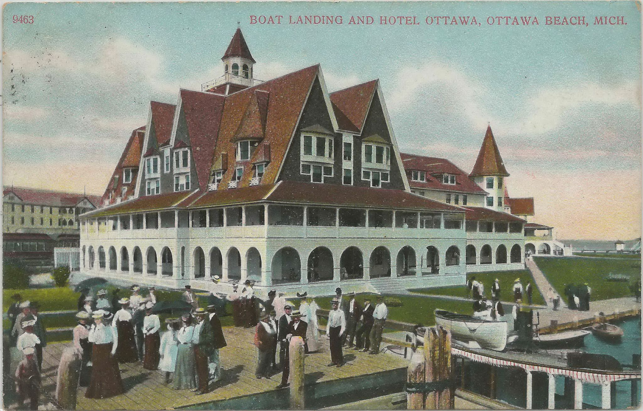 Sw Ottawa Beach Macatawa Holland Mi 1910 Hotel Ottawa Burned 1923