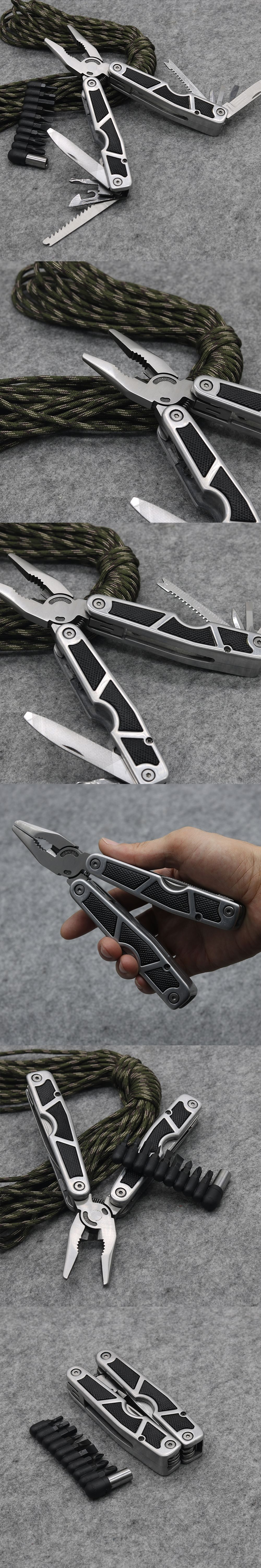 multifunctional tool pliers folding knife survival outdoor edc gear